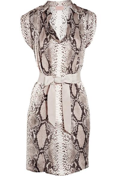 b145a6b1af Lanvin. Python-print silk dress