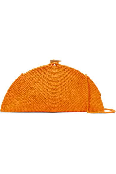 CATZORANGE Señor Woven Cotton Shoulder Bag in Orange