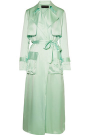 Michael Lo Sordo Silk-satin trench coat