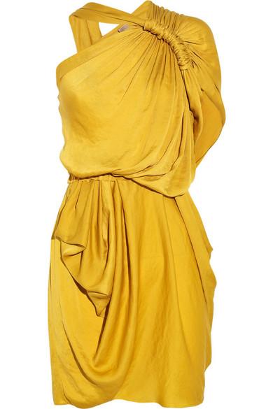 Sale alerts for Lanvin Washed-satin one-shoulder dress - Covvet