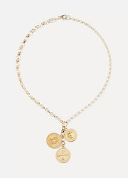 Karma, Strength and Dream 18-karat gold diamond necklace