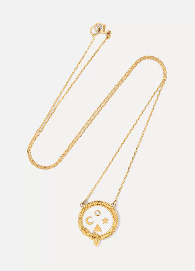 Karma, Strength And Dream 18-karat Gold Diamond Necklace - one size Foundrae