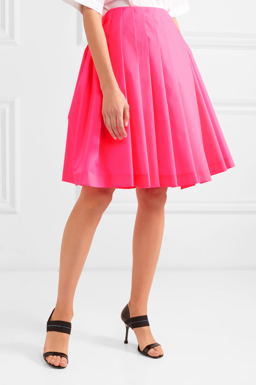 Prada Wrap-effect pleated shell skirt