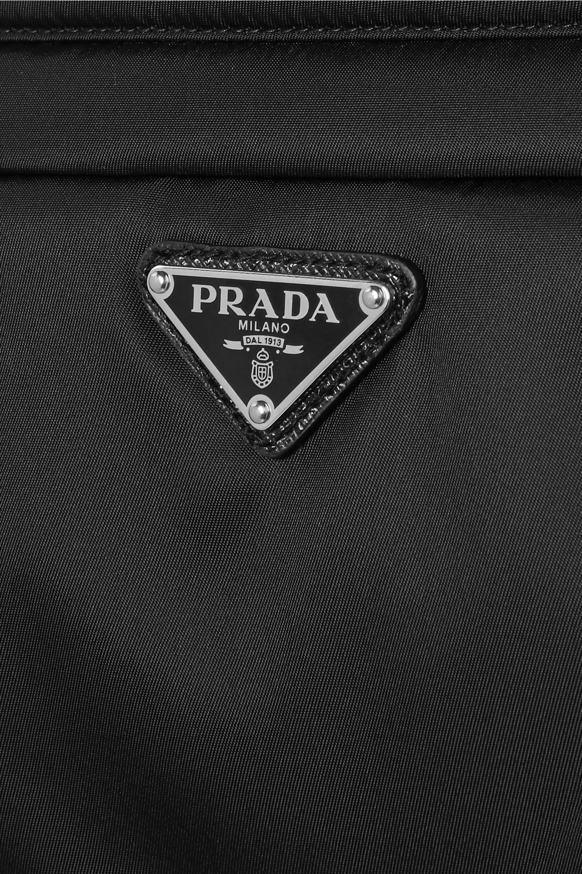 Prada Leather-trimmed shell corset