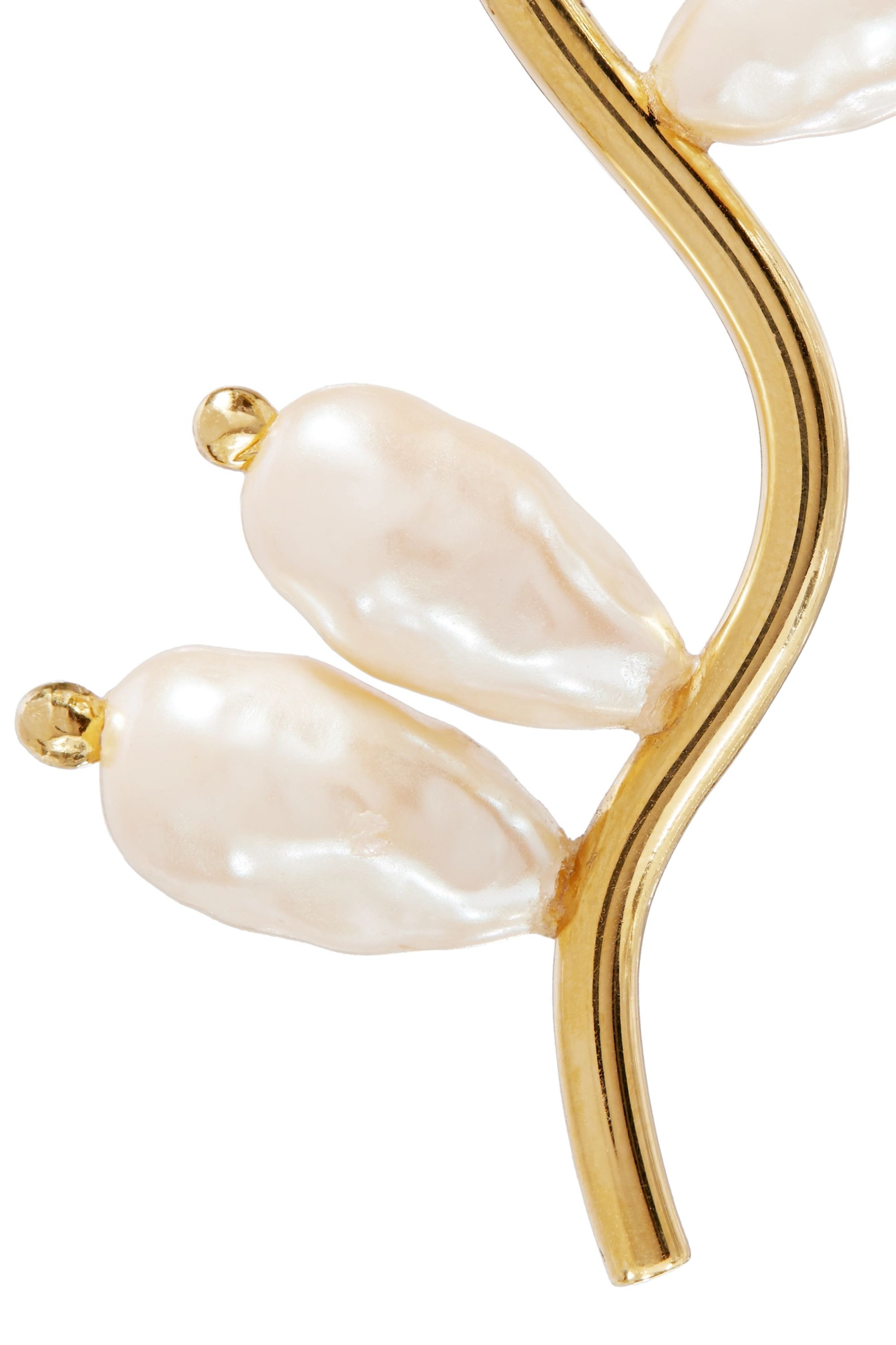 Beaufille Branch gold-plated faux pearl earrings