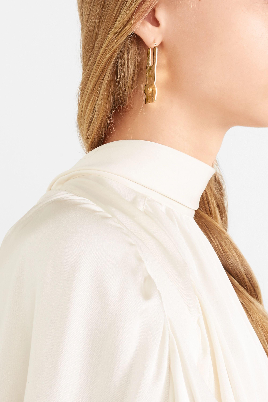 Beaufille Boucles d'oreilles en plaqué or Ripple Sheet