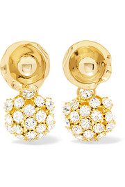 Ripple Disco gold-plated crystal earrings