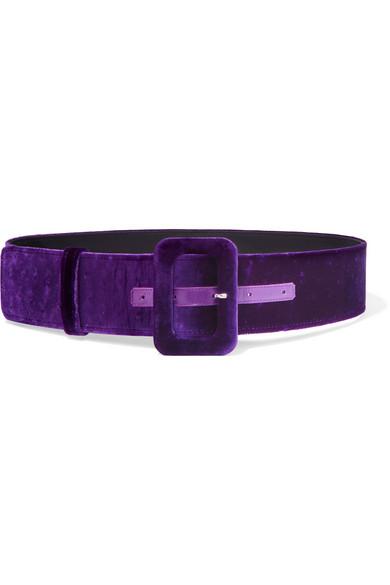 Attico - Velvet Waist Belt - Purple