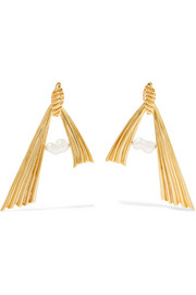+ Alican Icoz Amore gold-plated pearl earrings