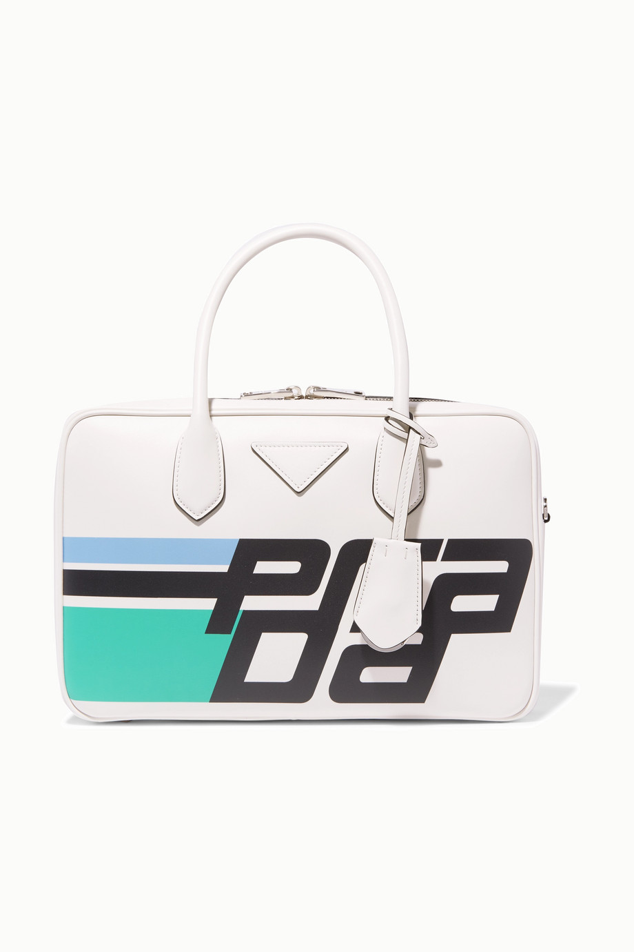 Prada Bauletto printed leather tote