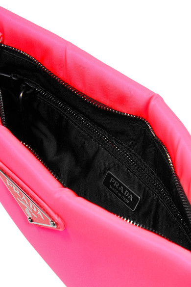 61e093d64144 Prada. Small neon leather-trimmed shell pouch. £590. Runway. Zoom In