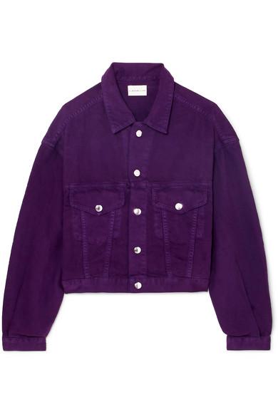 SIMON MILLER - Cropped Denim Jacket - Purple