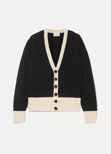 SIMON MILLER Bly two-tone alpaca-blend cardigan