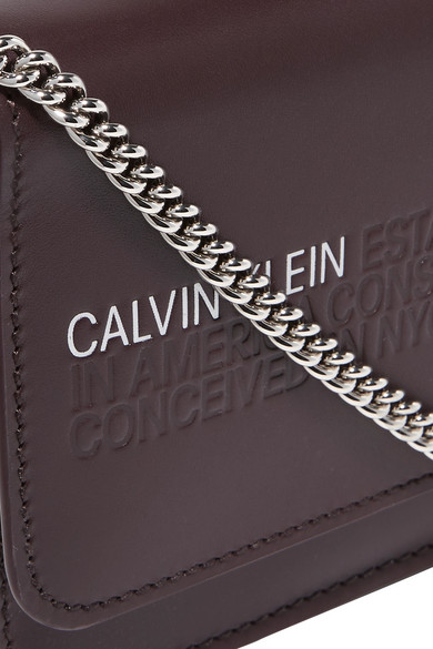 05b333312b1 CALVIN KLEIN 205W39NYC. Mini embossed leather shoulder bag. $790 $31660%  OFF. Reduced further. Zoom In