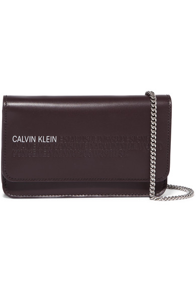 ad44728c2f2 CALVIN KLEIN 205W39NYC | Mini embossed leather shoulder bag | NET-A ...