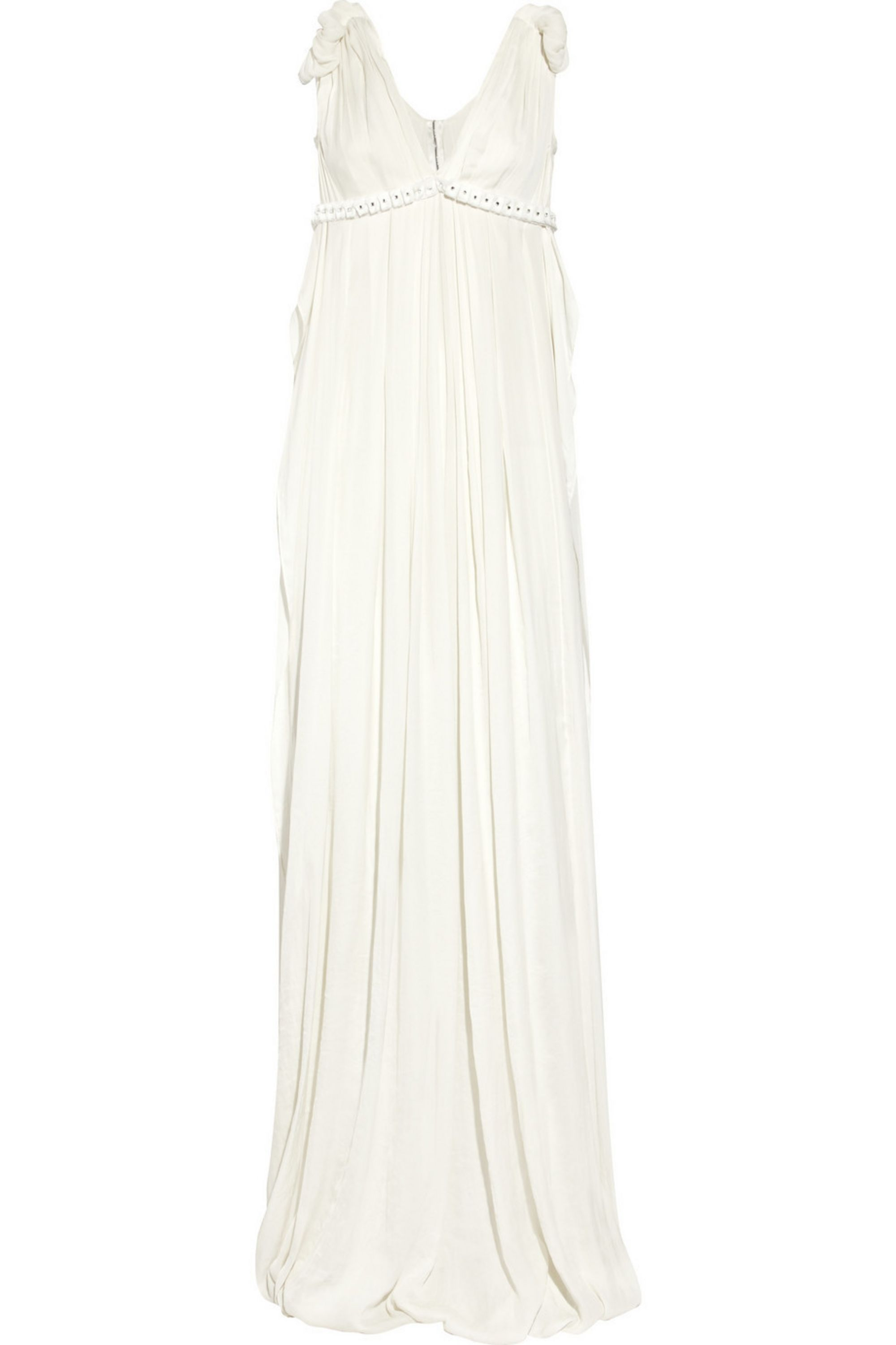 Lanvin Pleated chiffon gown