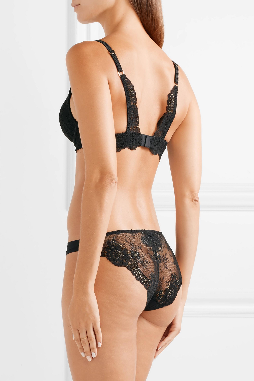 Stella McCartney Stella stretch-jersey and lace underwired plunge bra