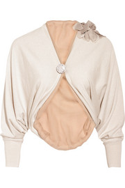 Lanvin Corsage cotton-blend shrug
