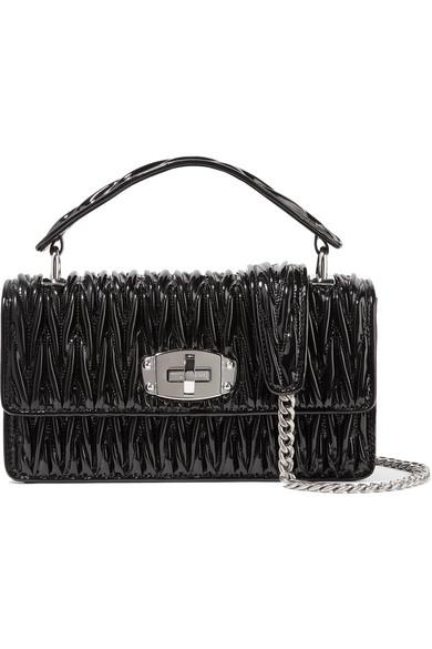 Miu Miu. Cleo matelassé patent-leather shoulder bag 6c39d4f81b376