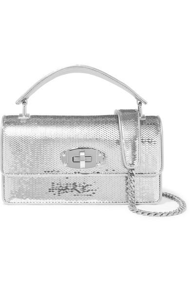 4c379c3427ae Miu Miu. Cleo sequined leather shoulder bag