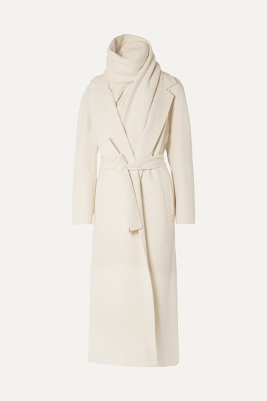 The Row Coats Tooman cashmere and wool-blend coat and scarf