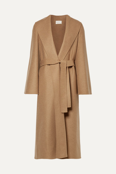 The Row - Parlie Oversized Belted Cashmere Coat - Camel