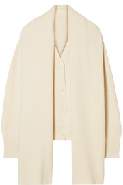 The Row Scarletta oversized cashmere cardigan