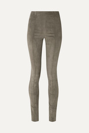 The Row Hailen suede leggings