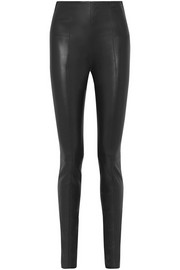 The Row Hailen stretch-leather leggings
