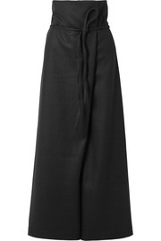 The Row Truxton wrap-effect wool pants