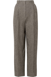 The Row Nica houndstooth camel hair straight-leg pants