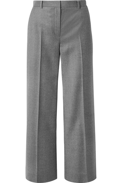 THE ROW Ina grain de poudre wool straight-leg pants