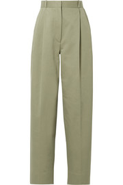 The Row Nica cotton-twill straight-leg pants