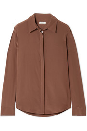 The Row Petah silk blouse