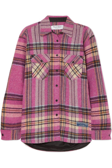 We11 Done CHECKED WOOL SHIRT
