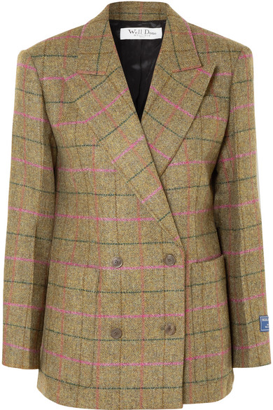We11 Done CHECKED WOOL BLAZER
