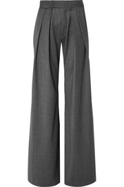 Herringbone wide-leg pants