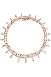 Atlas 18-karat rose gold diamond bracelet