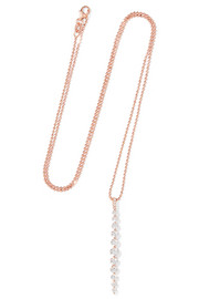 Twiggy 18-karat rose gold diamond necklace