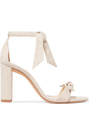 Clarita bow-embellished linen sandals