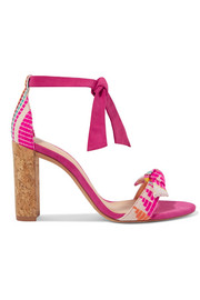 Alexandre Birman Clarita bow-embellished jacquard and suede sandals