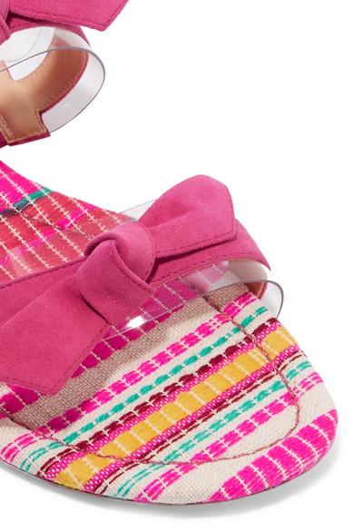 Alexandre Birman | Pantoletten mit aus Veloursleder und PVC mit Pantoletten Schleifen 10fcad