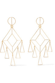 Mercedes Salazar Gold-plated earrings