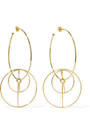 Mercedes Salazar Dos Circulos gold-plated earrings