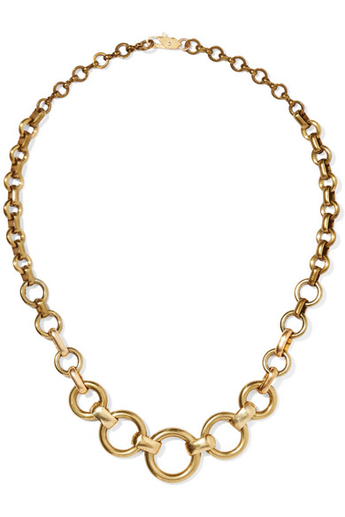 LAURA LOMBARDI Cambia Hoops Necklace in Gold