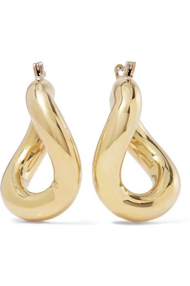 LAURA LOMBARDI Anima Gold-Tone Hoop Earrings