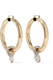 Onda gold and silver-tone hoop earrings