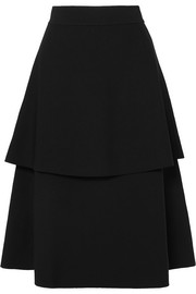 Stella McCartney Tiered cady midi skirt