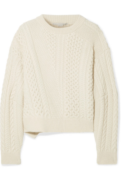 Stella Mccartney Oversized Cable Knit Wool And Alpaca Blend Sweater