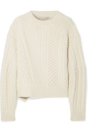 Stella McCartney Oversized cable-knit wool and alpaca-blend sweater